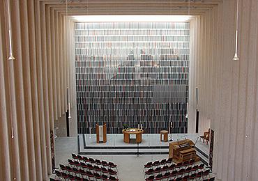 Blick von der Empore in der Immanuelkirche: einladend und mit evangelischem Profil