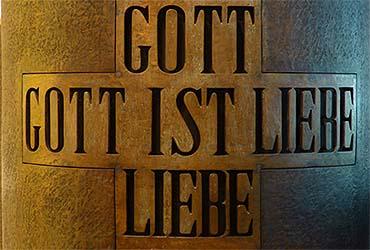Ausschnitt aus der Kanzel der Clarenbachkirche.