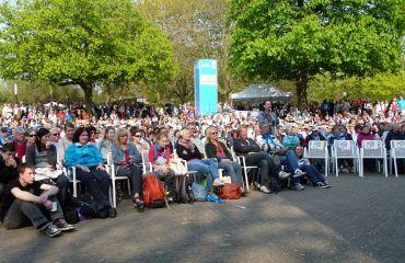 Ein kleiner Ausschnitt des Publikums während des Programms der Rheinischen Bühne. Foto: Susanne Hermanns
