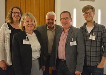 Dr. Dorit Felsch, Andrea Vogel, Rolf Domning, Holger Reiprich und Sebastian Baer-Henney (v. li.)