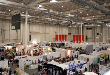 Der Markt der Möglichkeiten in den Messehallen. Foto: Angelika Knapic