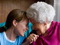 Über die Qualität von häuslicher Pflege und Betreuung entscheiden auch Kontakt, Nähe, Zuspruch...